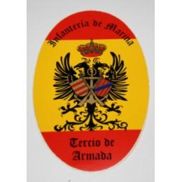 Pegatina Infantería de Marina Tercia de Armada