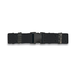 Cinturón negro hebilla metalica SWAT