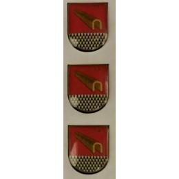 Pegatina pequeña Relieve Subsuelo Policía Nacional (3 unidades)