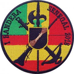Parche de brazo redondo bordado I Bandera de la Legión Senegal