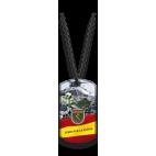 Placa con cadena de bolas Guardia Civil