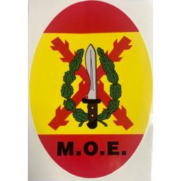 Pegatina ovalada M.O.E 12X8CM