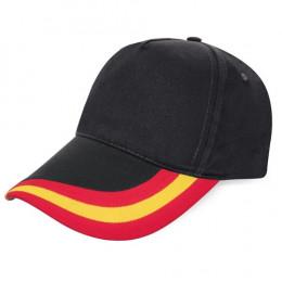 Gorra Negra Bandera España Halcón