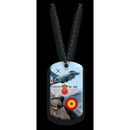 Placa con cadena de bolas Ejército del Aire
