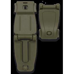 Accesorio Sujeción ABS Molle Verde ( 2 Unidades)