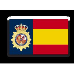Pegatina Bandera España Policía Nacional