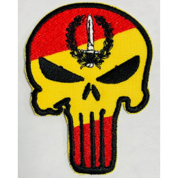 Parche Bandera España Bordado Punisher