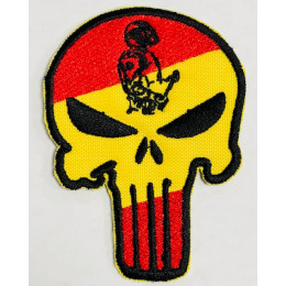 Parche Bandera España Bordado Punisher CNP