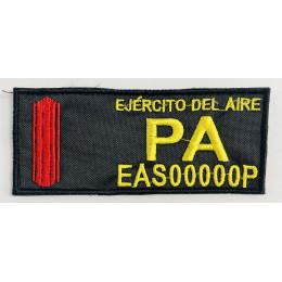 Galleta con Número de Identificación Personal Bordada PA Negra