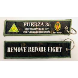 Llavero Verde Pixelado FUERZA 35 Ejército Español