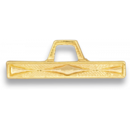 Barra dorada con angulo distintivo montaña (5 años)