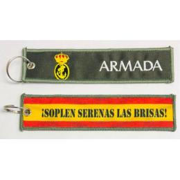 Llavero Bordado y sublimado Armada verde (2 caras)