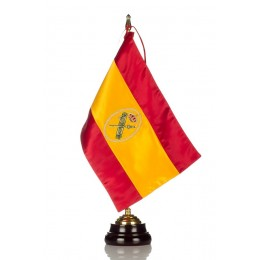 Bandera seda Guardia Civil con Peana de madera