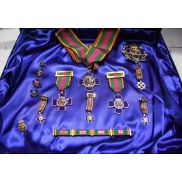 Estuche Grande Dedicaciones Policiales + Pasador + Miniaturas Tipo PIN + Medallas Miniatura + Pin PN