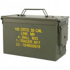Caja de metal para munición calibre 50 mm, M2A1 (MFH)