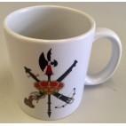 Taza de cerámica con escudo Legión Española