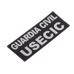 Parche Espalda GUARDIA CIVIL USECIC chaleco Plata reflectante