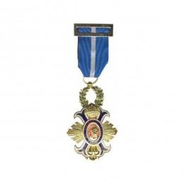 Medalla Cruz de Oficial de la orden Merito Civil Oro