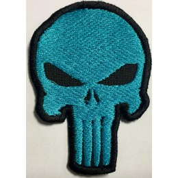 Parche Bordado Punisher Azul Con Velcro