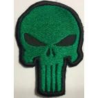 Parche Bordado Punisher Verde Con Velcro